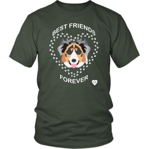 australian shepherd best friends t-friends olive