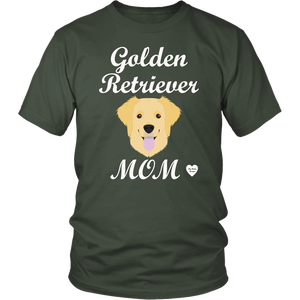golden retriever mom olive t-shirt