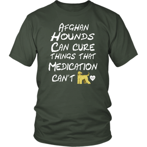 Afghan Hounds Can Cure T-Shirt Olive
