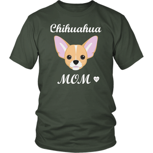 chihuahua mom olive t-shirt