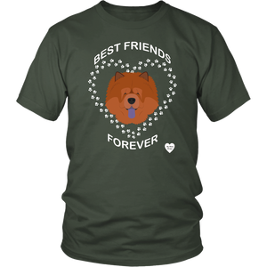 Chow Chow Best Friends Forever T-Shirt Olive