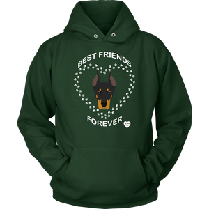 Doberman Best Friend Forever Hoodie Dark Green