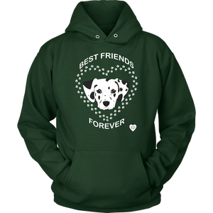 Dalmatian Best Friends Forever Hoodie Dark Green