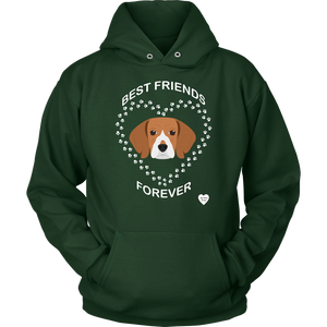 Beagle Best Friends Forever Hoodie Dark Green
