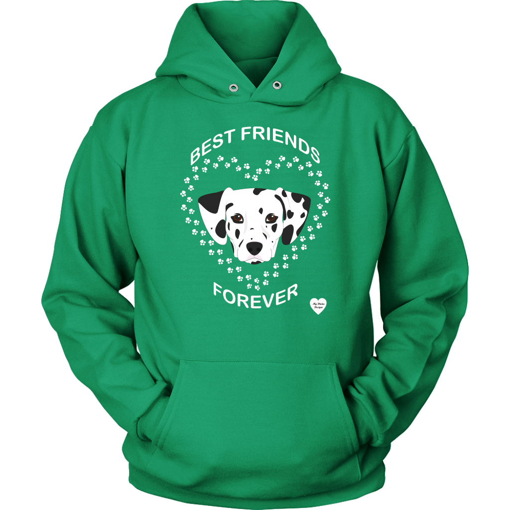 Dalmatian Best Friends Forever Hoodie Kelly Green