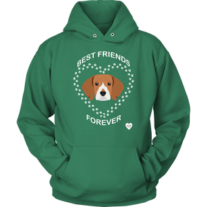 Beagle Best Friends Forever Hoodie Kelly Green