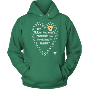 Golden Retriever Paw Prints Hoodie