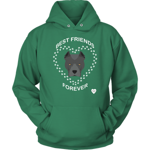 Pit Bull Best Friends Forever Hoodie Kelly Green