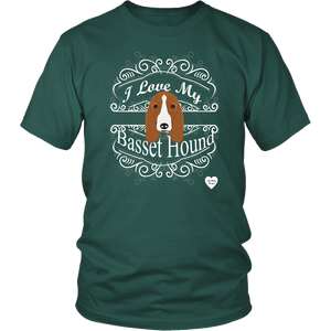 I Love My Basset Hound T-Shirt