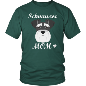 Schnauzer Mom dark green t-shirt