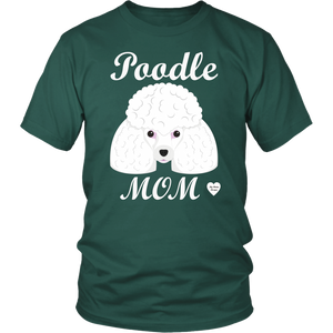 Poodle Mom dark green t-shirt