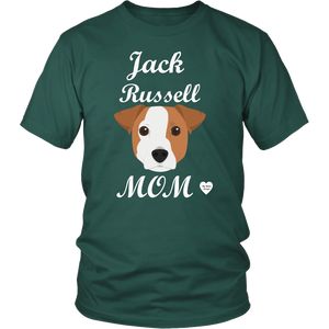 jack russell mom t-shirt dark green