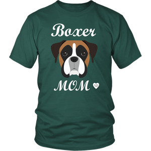 boxer mom dark green t-shirt