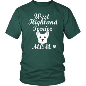 west highland terrier t-shirt dark green