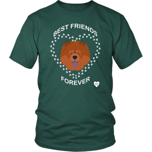 Chow Chow Best Friends Forever T-Shirt Dark Green