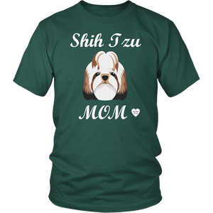shih tzu mom t-shirt dark green