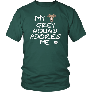 Greyhound Adores Me T-Shirt Dark Green