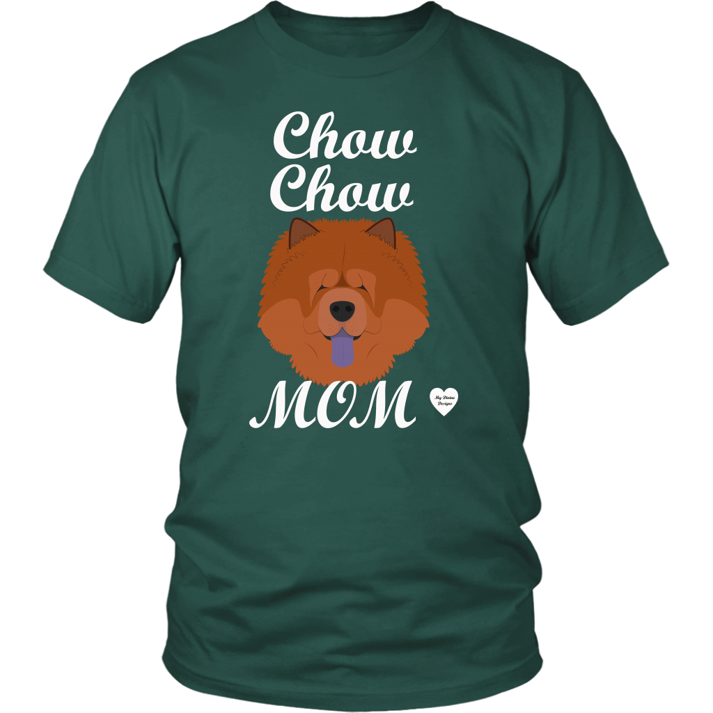 chow chow mom t-shirt dark green