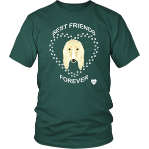 Afghan Hound Best Friends Forever T-Shirt Dark Green
