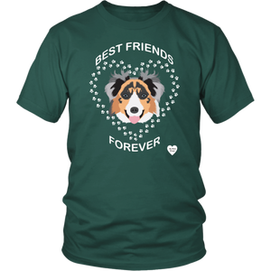 australian shepherd best friends t-shirt dark green