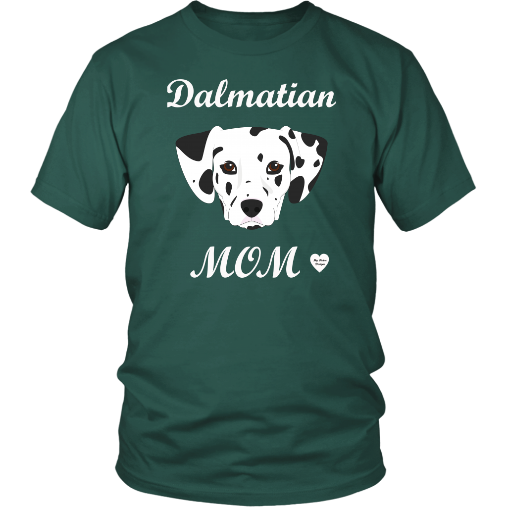 dalmatian mom t-shirt dark green