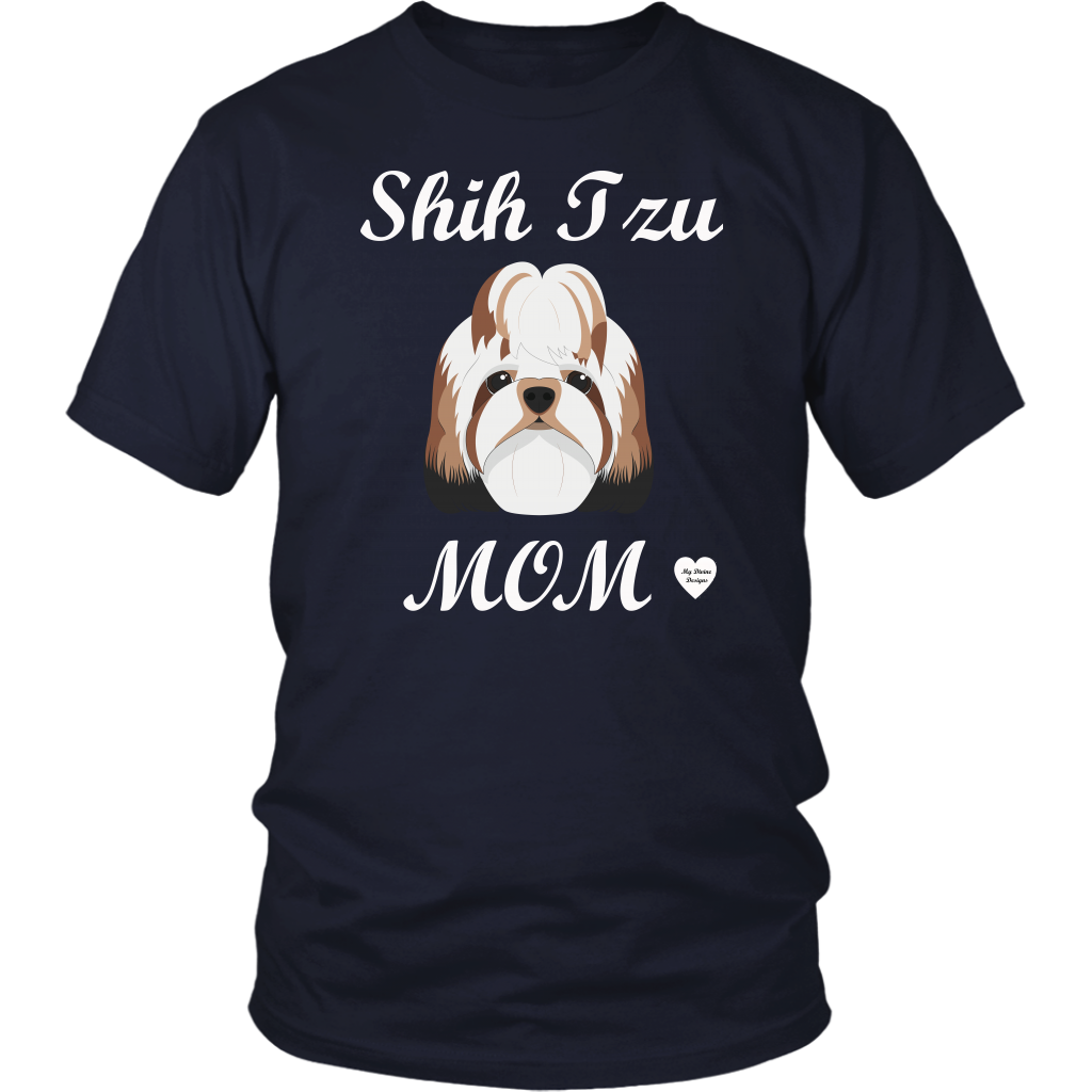shih tzu mom t-shirt navy