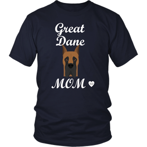 great dane mom navy t-shirt