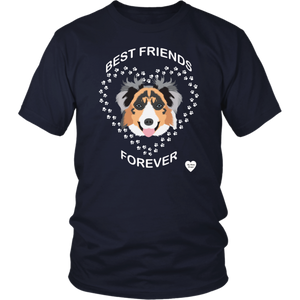 australian shepherd best friends t-shirt navy