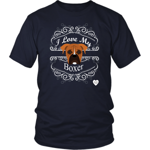I Love My Boxer T-Shirt Navy