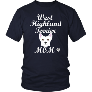 west highland terrier t-shirt navy