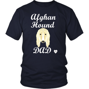 Afghan Hound Dad T-Shirt Navy