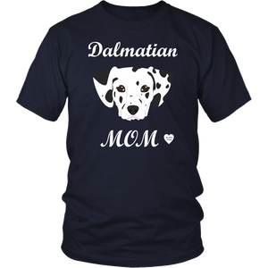 dalmatian mom t-shirt navy