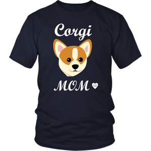corgi mom navy t-shirt