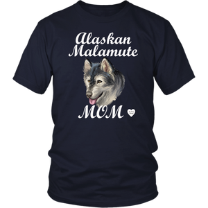 Alaskan Malamute Mom T-Shirt Navy
