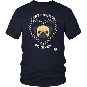 Pug Best Friends Forever T-Shirt