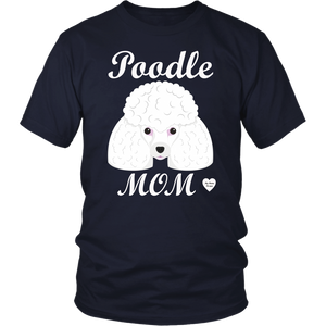 Poodle Mom navy t-shirt