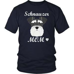 Schnauzer Mom navy t-shirt