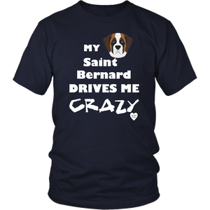 Saint Bernard Drives Me Crazy T-Shirt Navy