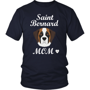 saint bernard mom t-shirt navy