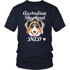 australian shepherd dad t-shirt navy