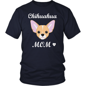 chihuahua mom navy t-shirt