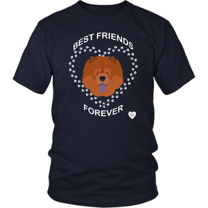 Chow Chow Best Friends Forever T-Shirt Navy