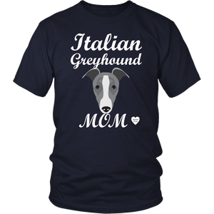 italian greyhound mom navy t-shirt