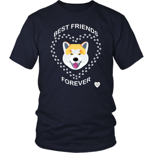Akita Inu Best Friends Forever T-Shirt