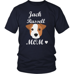 jack russell mom t-shirt navy