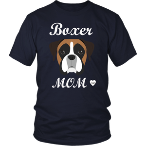 boxer mom navy t-shirt