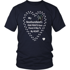 My Newfoundland's Paw Prints T-Shirt Navy