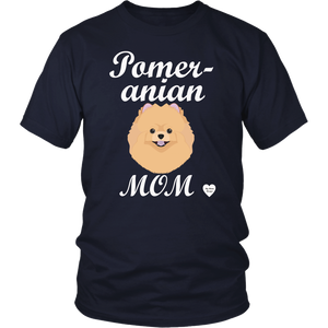 pomeranian mom t-shirt navy
