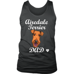 Airedale Terrier Dad Men's Tank Top Charcoal