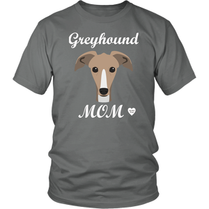 greyhound mom grey t-shirt